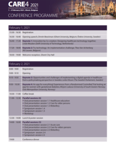 CARE4 Scientific Programme